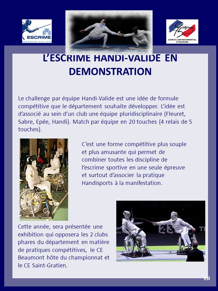 L'ESCRIME HANDI-VALIDE EN DEMONSTRATION
