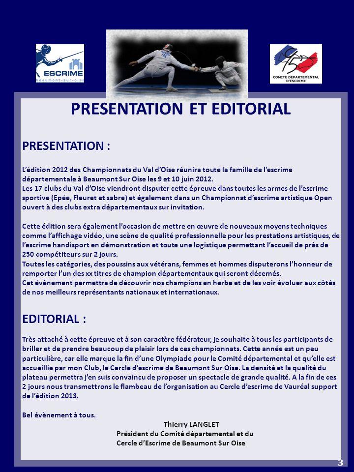 PRESENTATION ET EDITORIAL