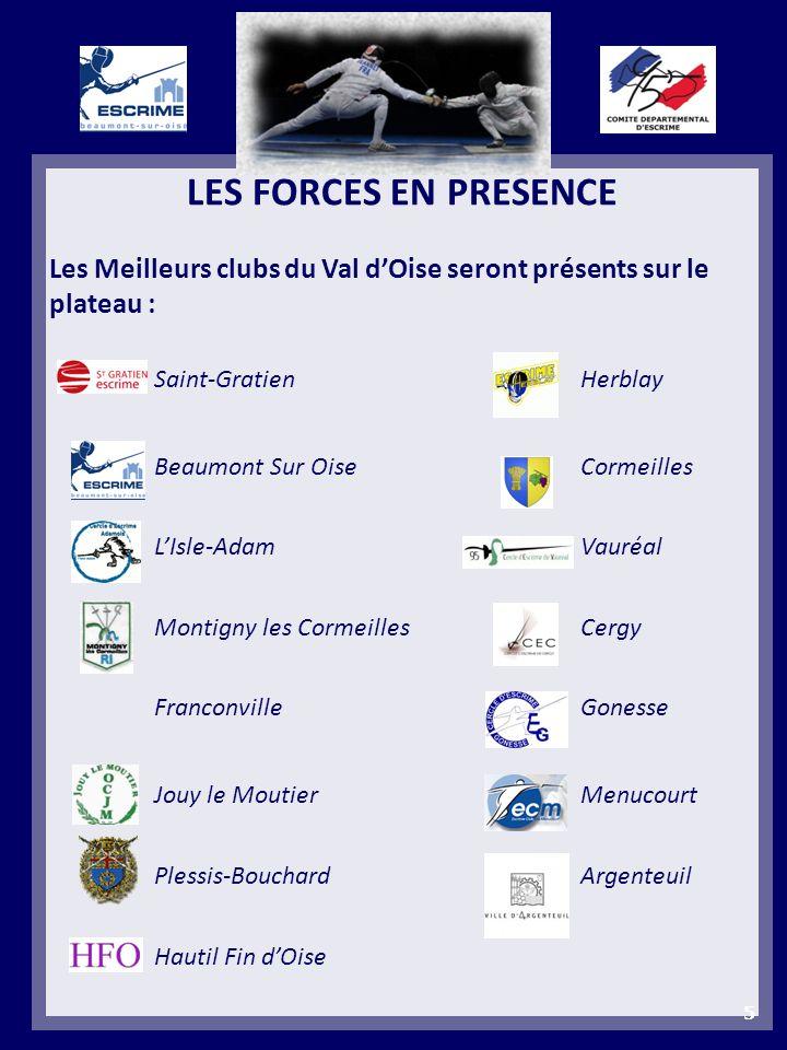LES FORCES EN PRESENCE Les Meilleurs clubs du Val d'Oise seront présents sur le plateau : Saint-Gratien Herblay.