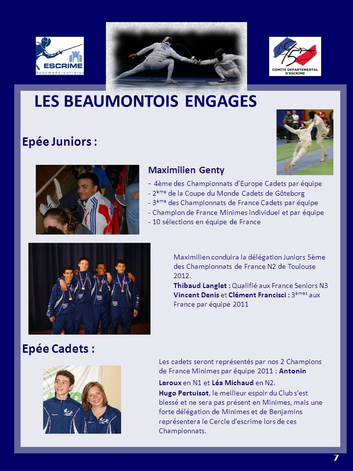 LES BEAUMONTOIS ENGAGES