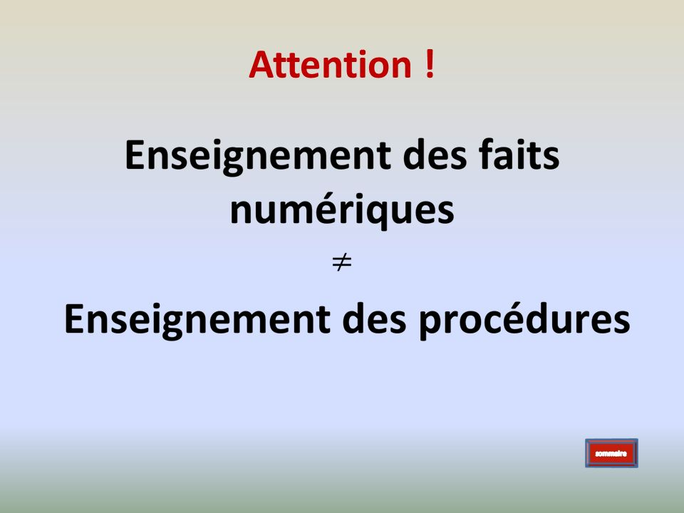 Attention ! sommaire