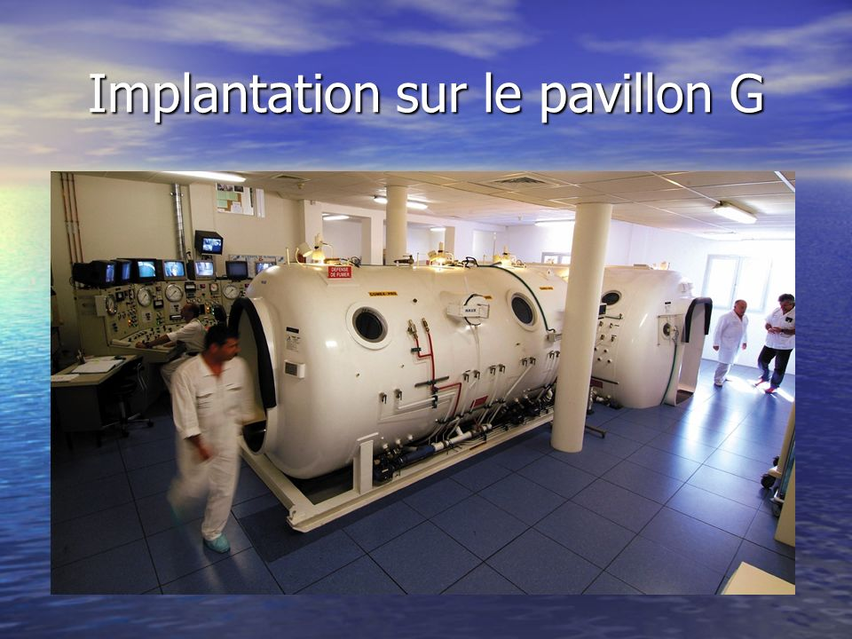 Implantation sur le pavillon G