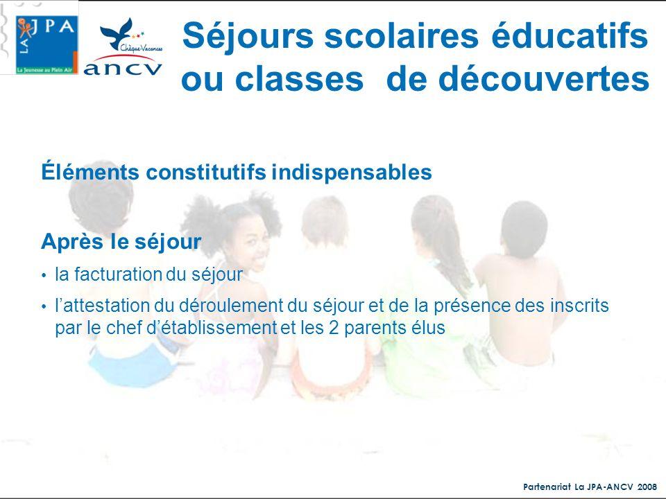 Séjours scolaires éducatifs ou classes de découvertes