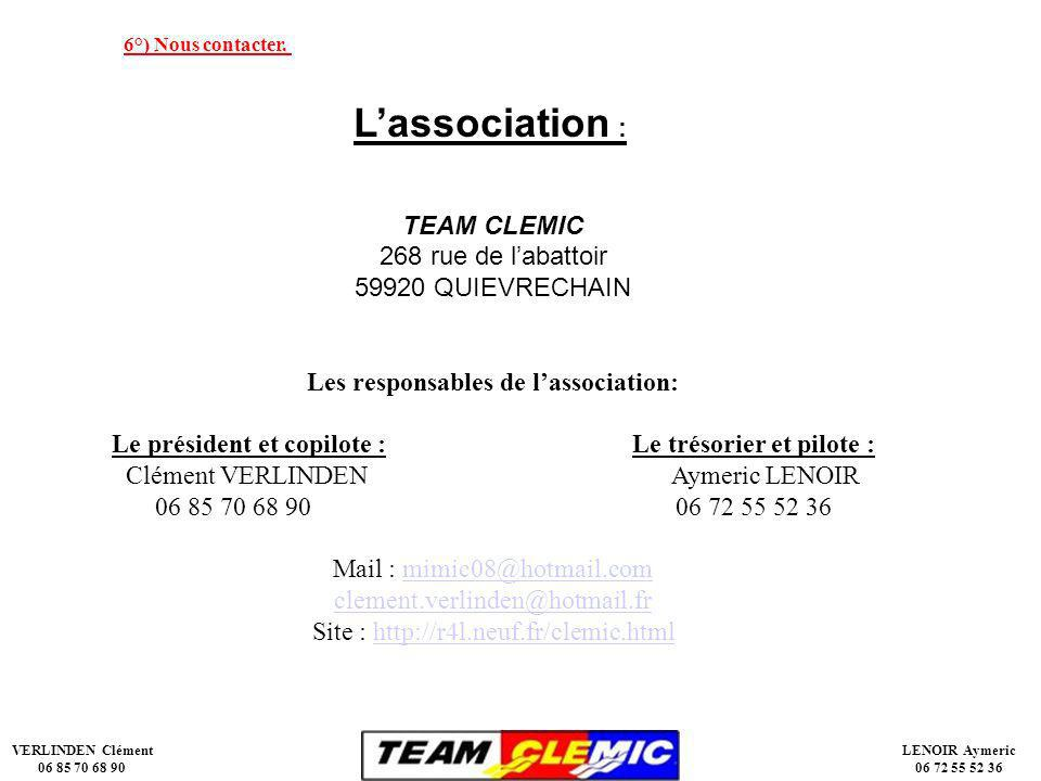 Les responsables de l'association: