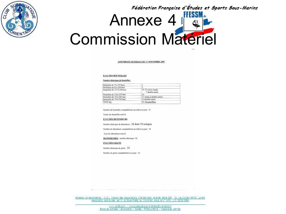Annexe 4 Commission Matériel