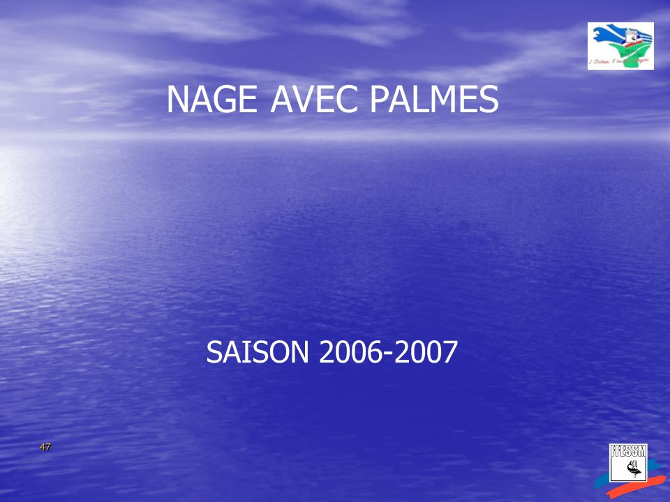 NAGE AVEC PALMES SAISON 2006-2007 SAISON 2004-2005 47