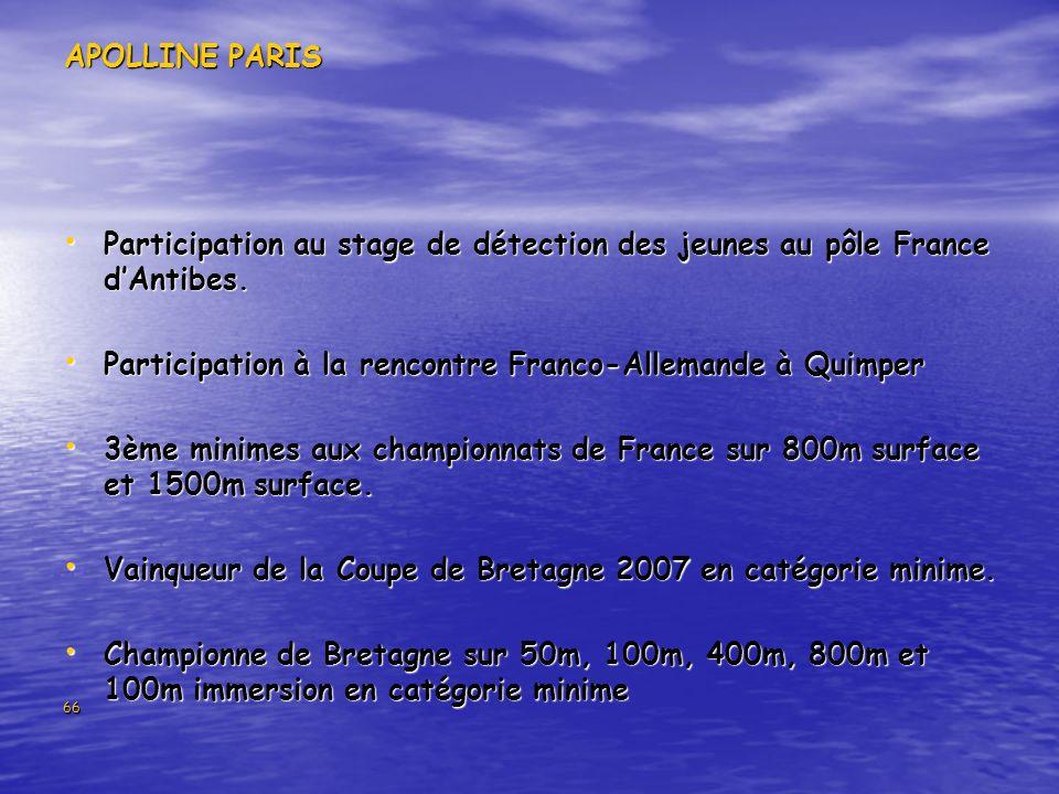 Participation à la rencontre Franco-Allemande à Quimper
