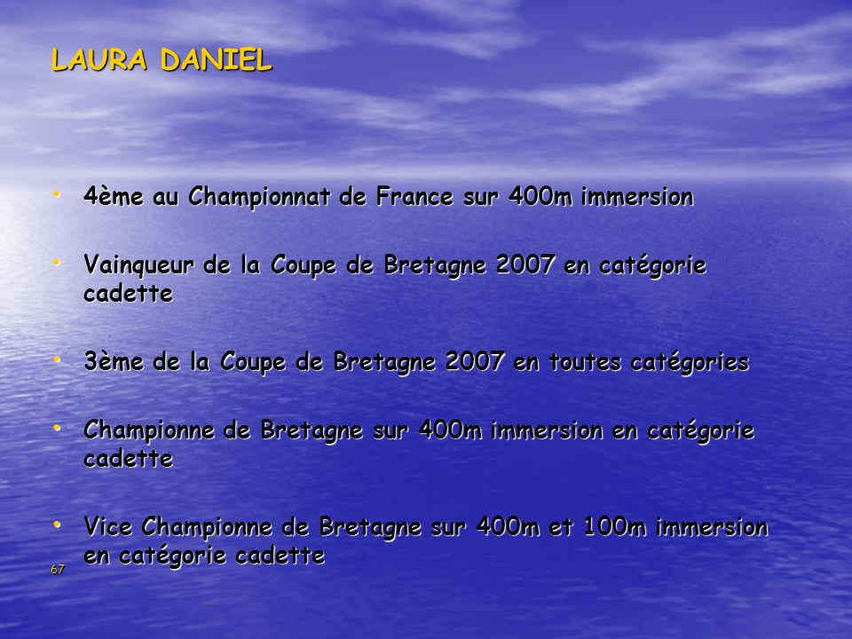 LAURA DANIEL 4ème au Championnat de France sur 400m immersion