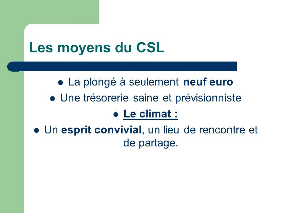 Les moyens du CSL La plongé à seulement neuf euro