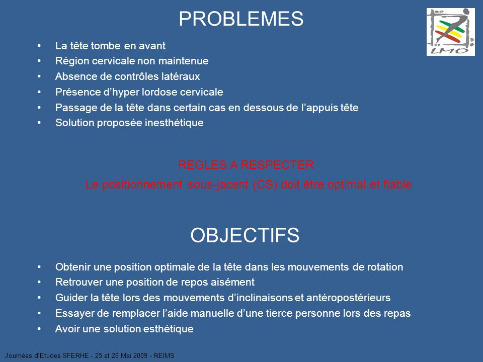 PROBLEMES OBJECTIFS REGLES A RESPECTER