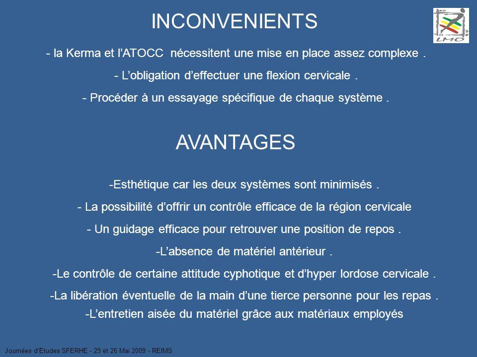 INCONVENIENTS AVANTAGES