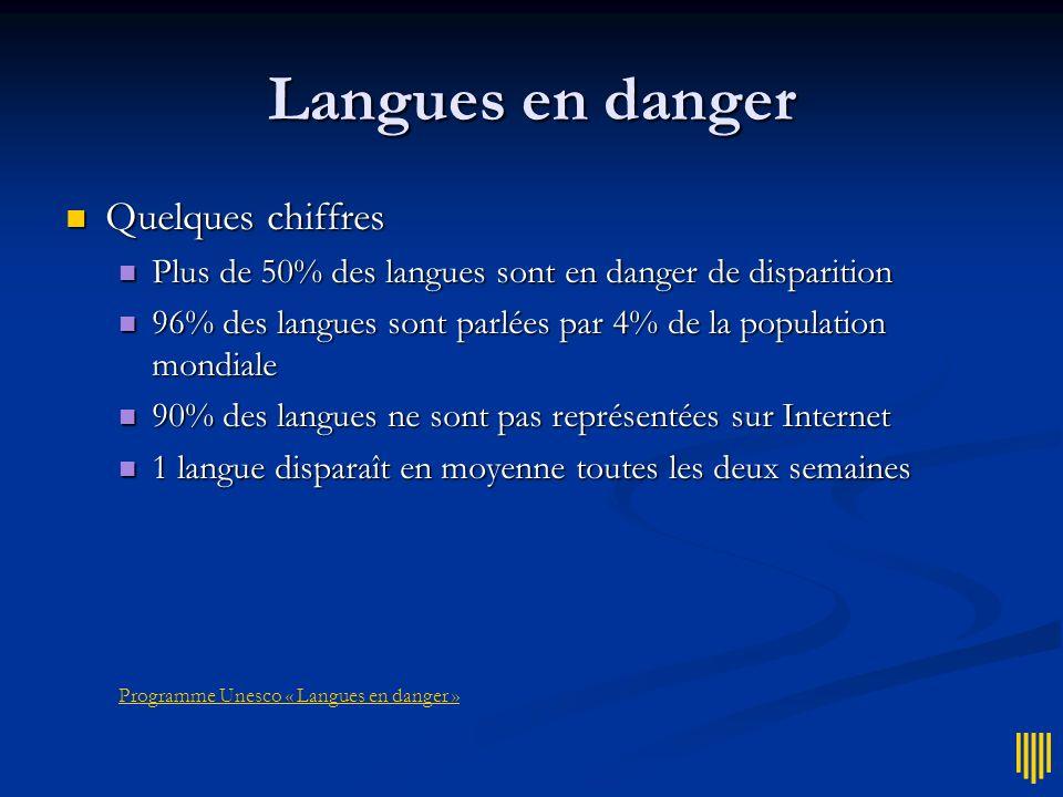 Programme Unesco « Langues en danger »