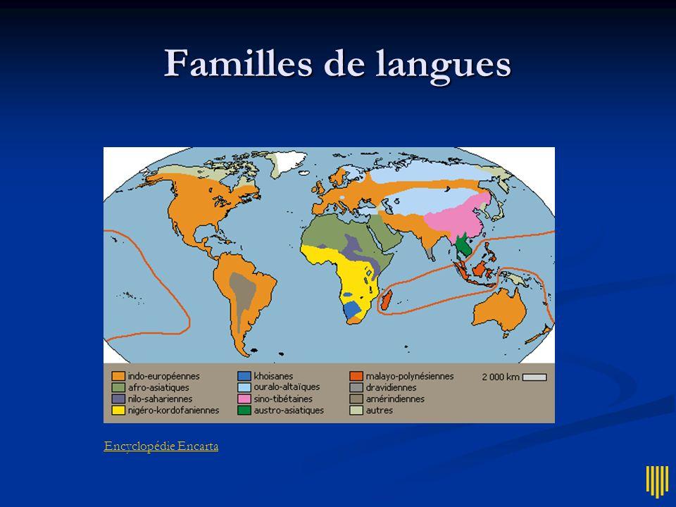 Familles de langues Encyclopédie Encarta