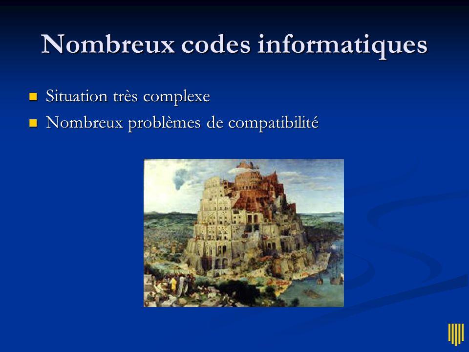 Nombreux codes informatiques