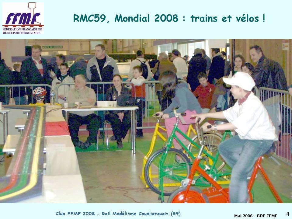 RMC59, Mondial 2008 : trains et vélos !