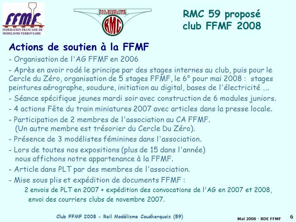 Club FFMF 2008 - Rail Modélisme Coudkerquois (59)