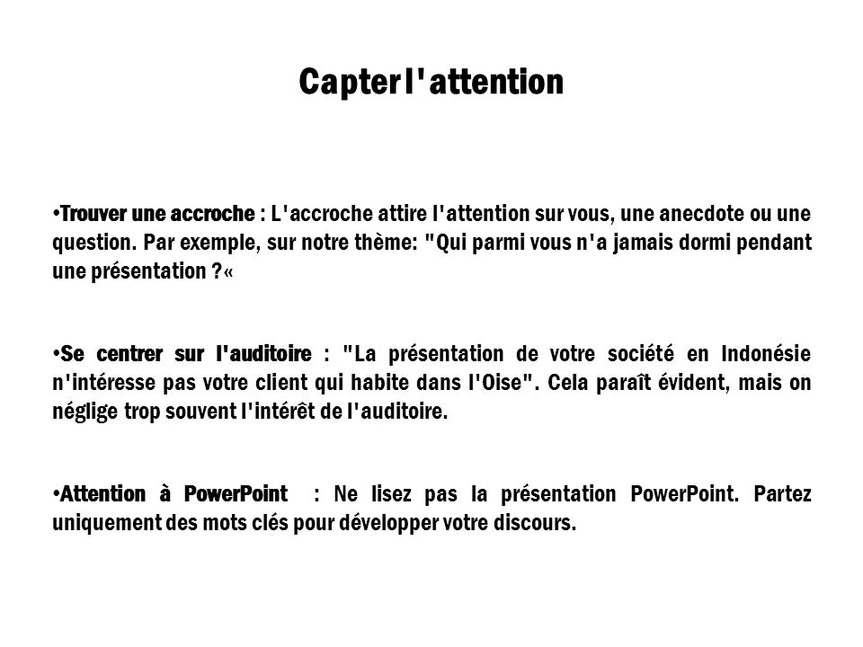 Capter l attention