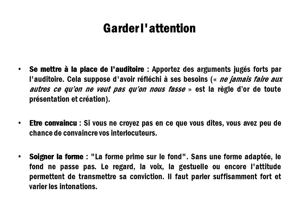 Garder l attention
