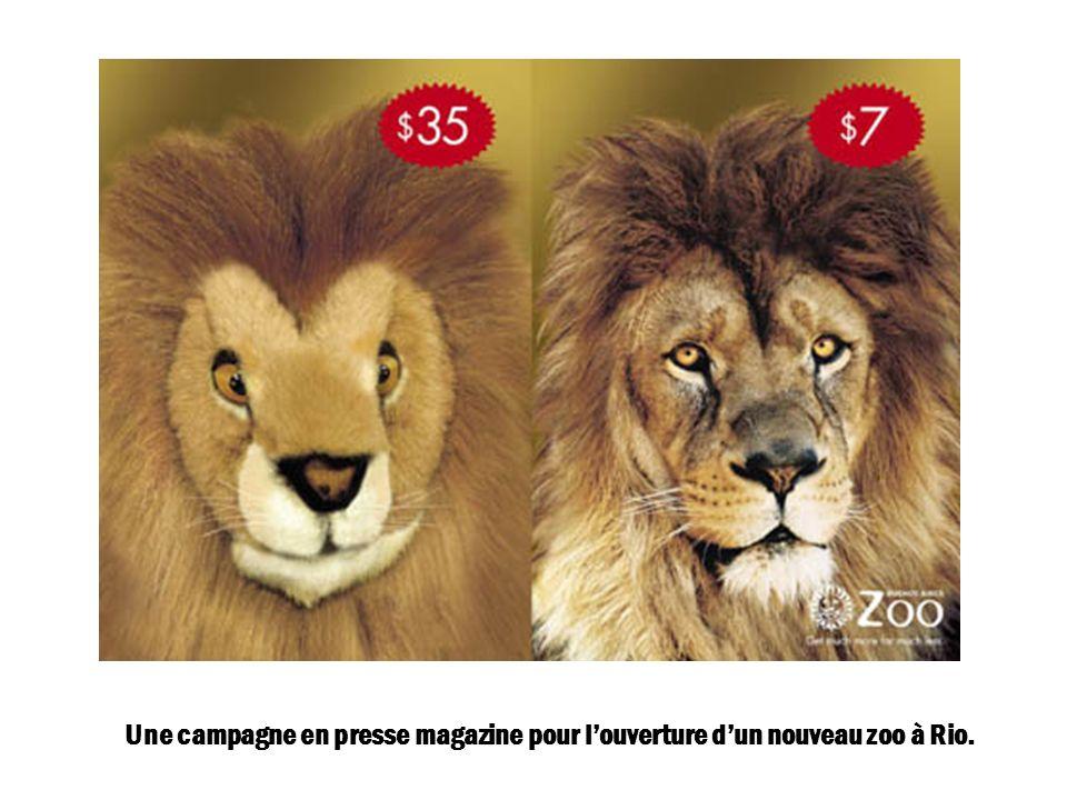 Une campagne en presse magazine pour l'ouverture d'un nouveau zoo à Rio.