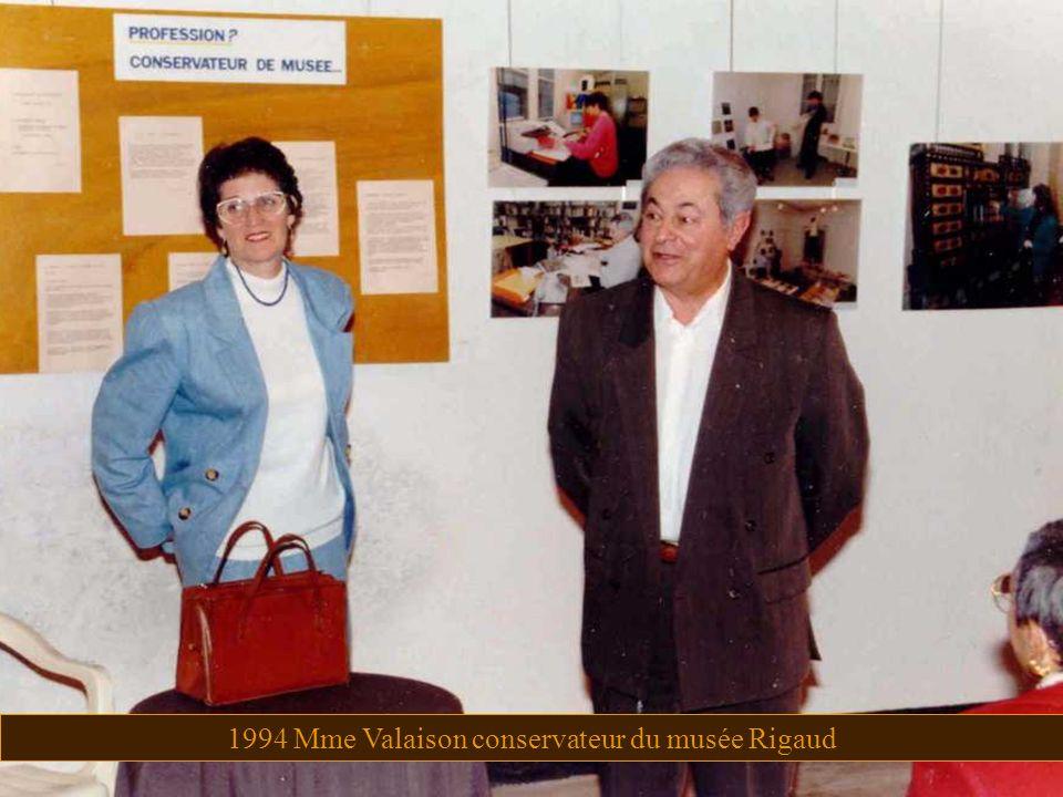 1994 Mme Valaison conservateur du musée Rigaud