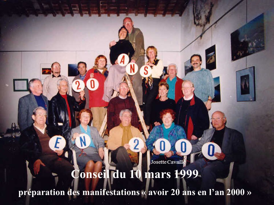 préparation des manifestations « avoir 20 ans en l'an 2000 »