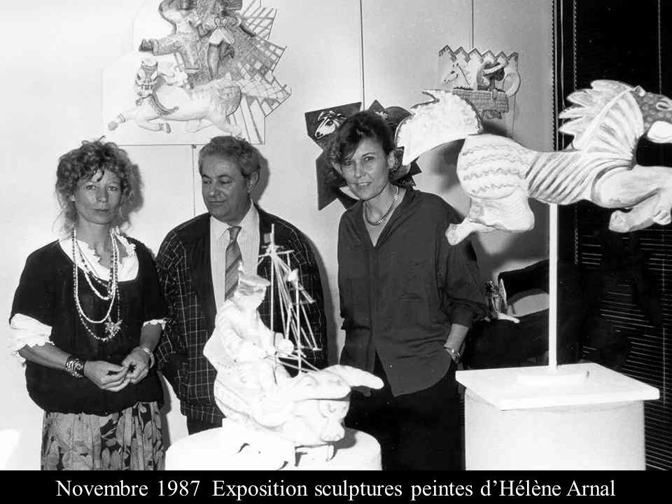 Novembre 1987 Exposition sculptures peintes d'Hélène Arnal