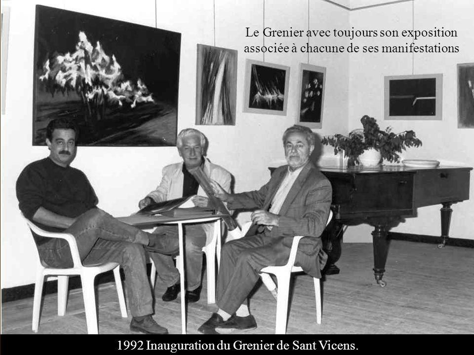 1992 Inauguration du Grenier de Sant Vicens.