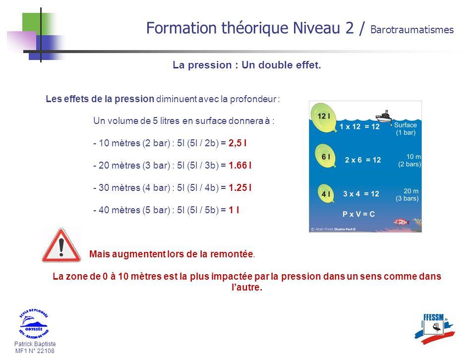 Formation théorique Niveau 2 / Barotraumatismes