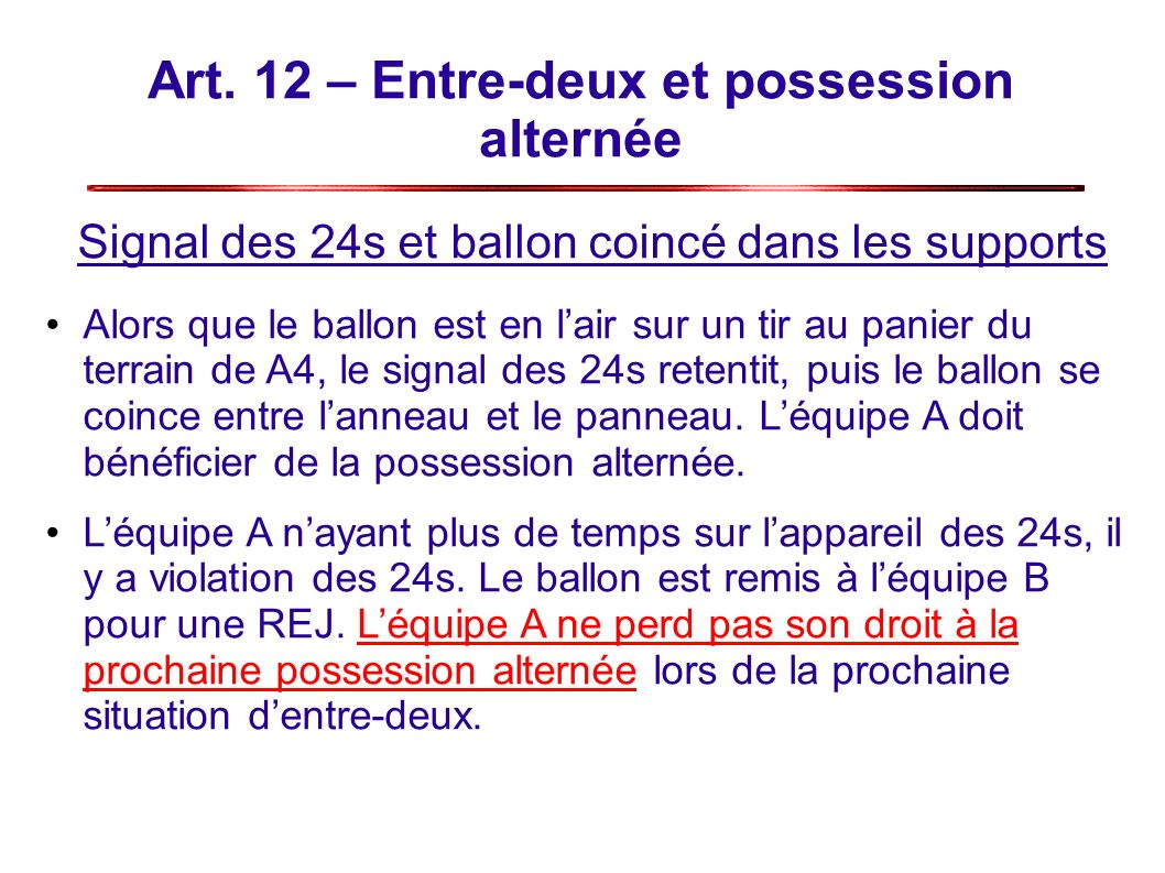 Art. 12 – Entre-deux et possession alternée