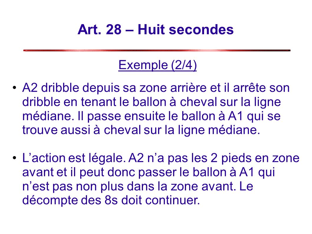Art. 28 – Huit secondes Exemple (2/4)