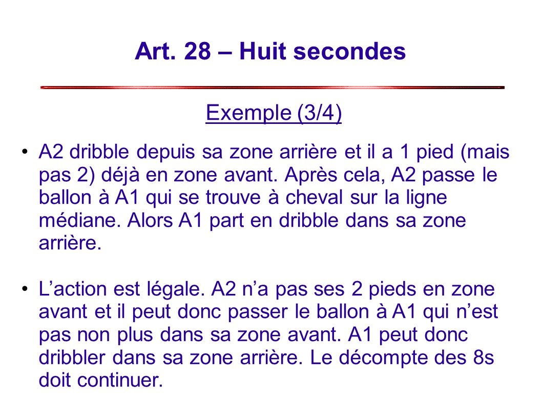 Art. 28 – Huit secondes Exemple (3/4)