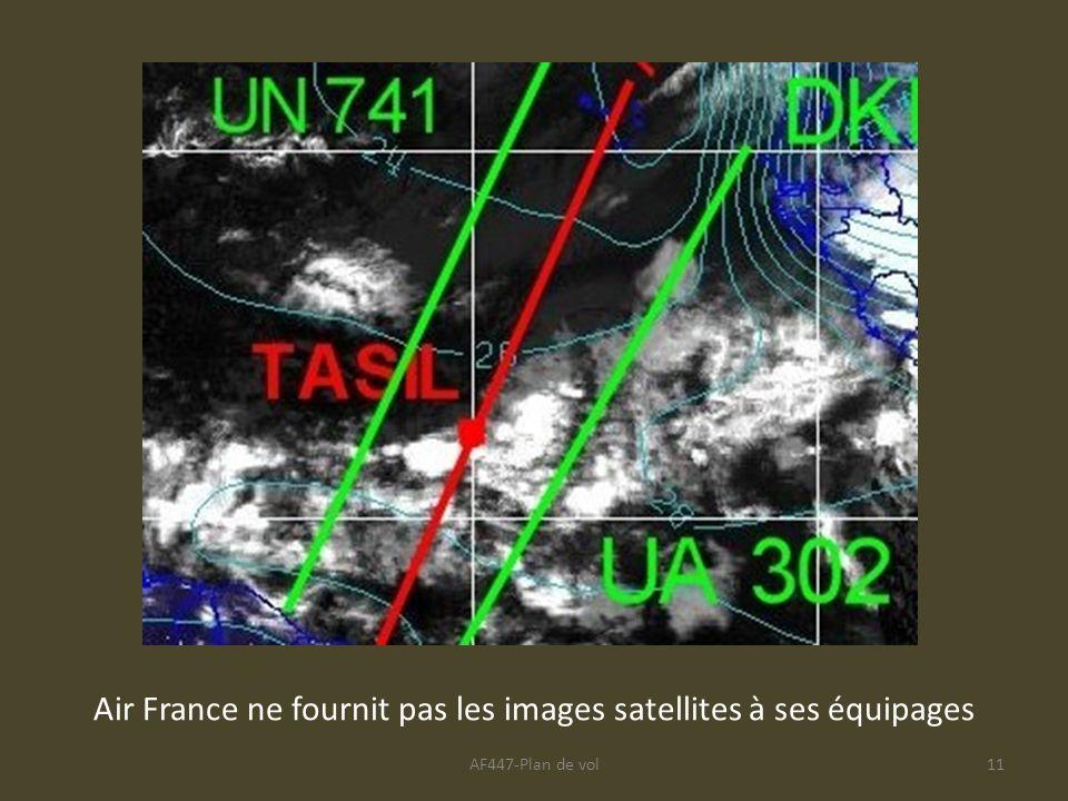 Air France ne fournit pas les images satellites à ses équipages