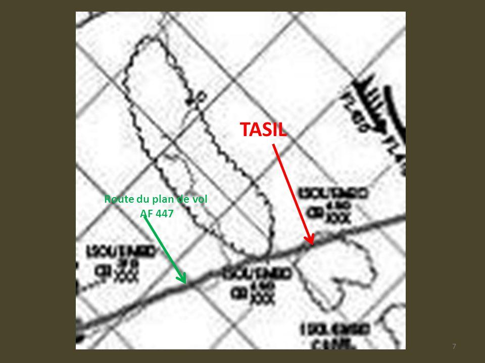 TASIL Route du plan de vol AF 447 AF447-Plan de vol
