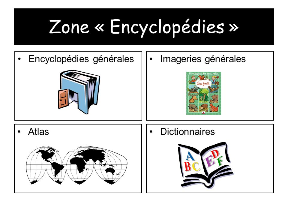 Zone « Encyclopédies » Encyclopédies générales Imageries générales