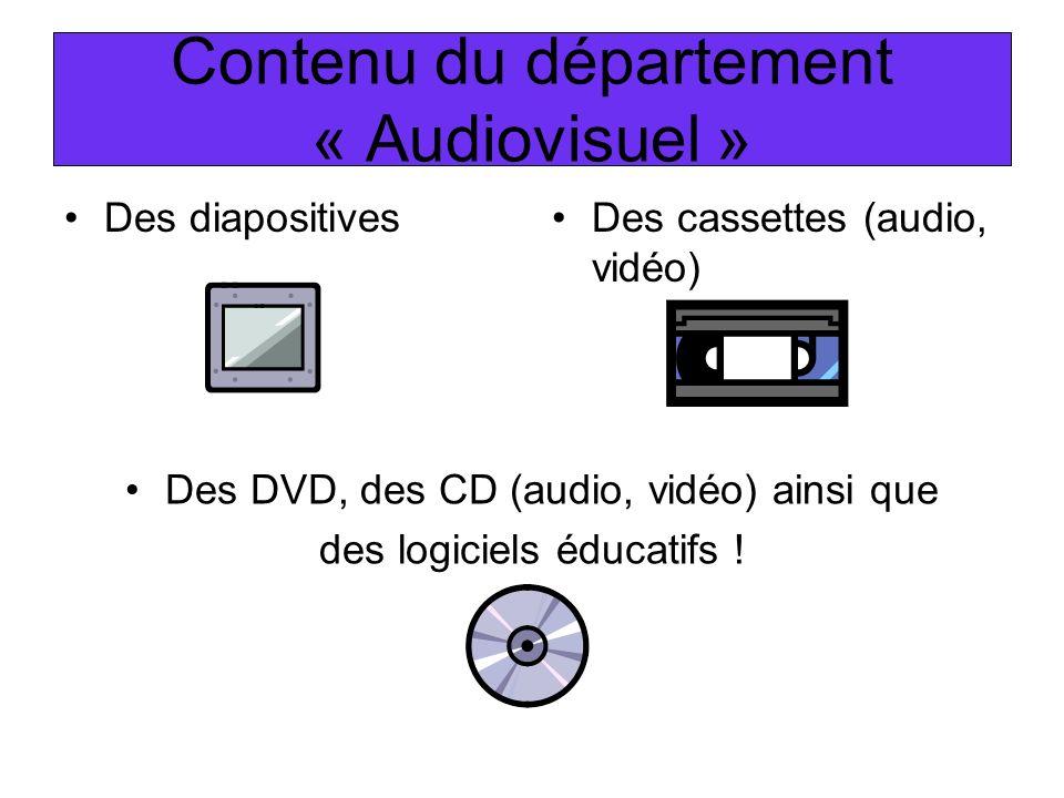 Contenu du département « Audiovisuel »