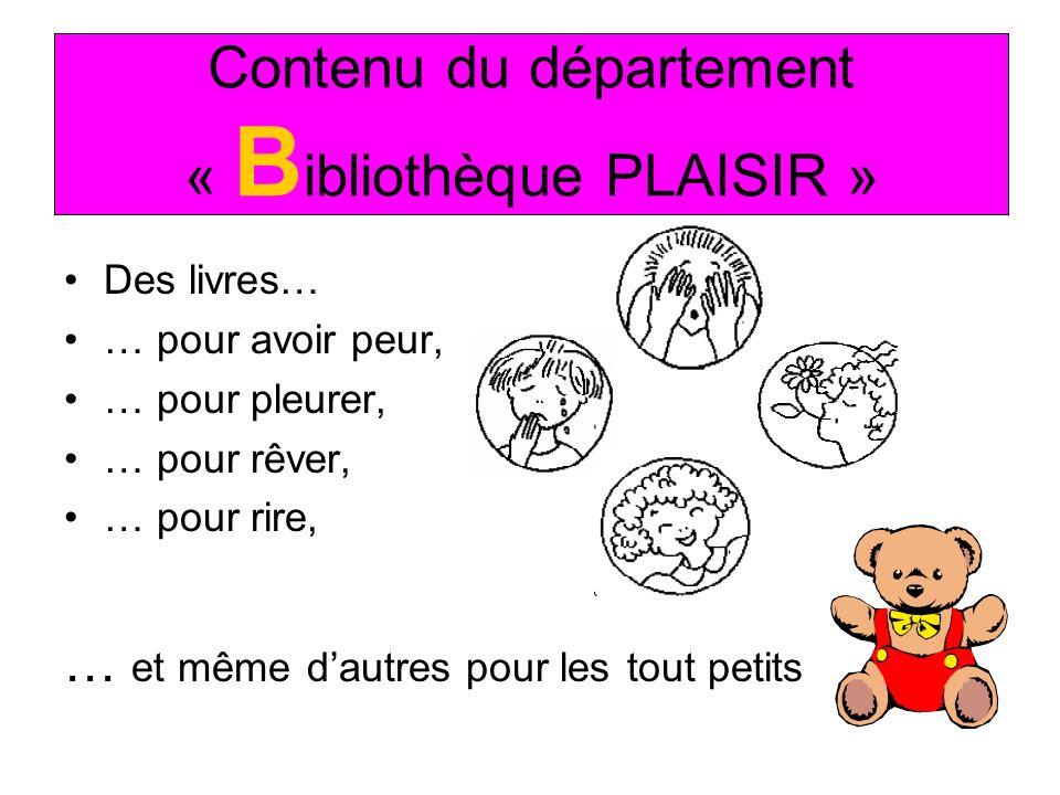 Contenu du département « Bibliothèque PLAISIR »