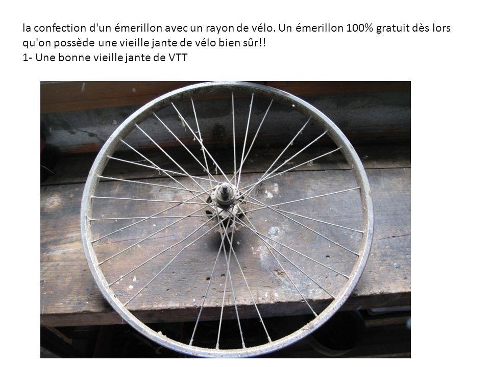 la confection d un émerillon avec un rayon de vélo