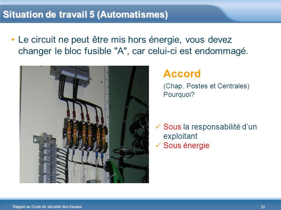 Situation de travail 5 (Automatismes)