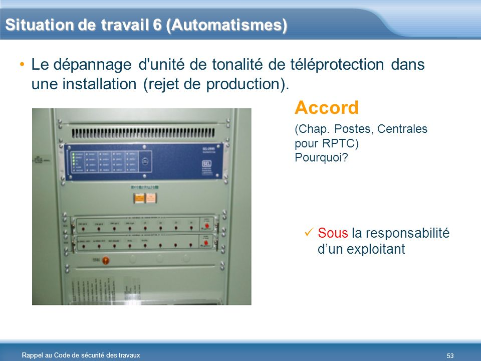 Accord Situation de travail 6 (Automatismes)