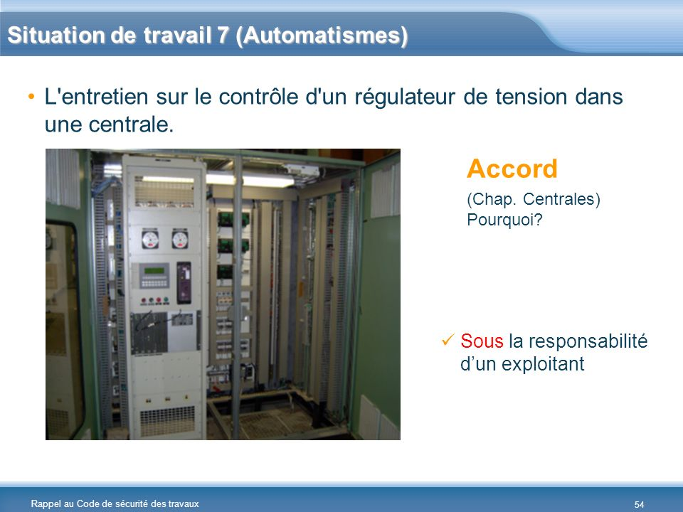 Accord Situation de travail 7 (Automatismes)