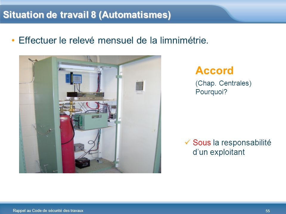 Accord Situation de travail 8 (Automatismes)