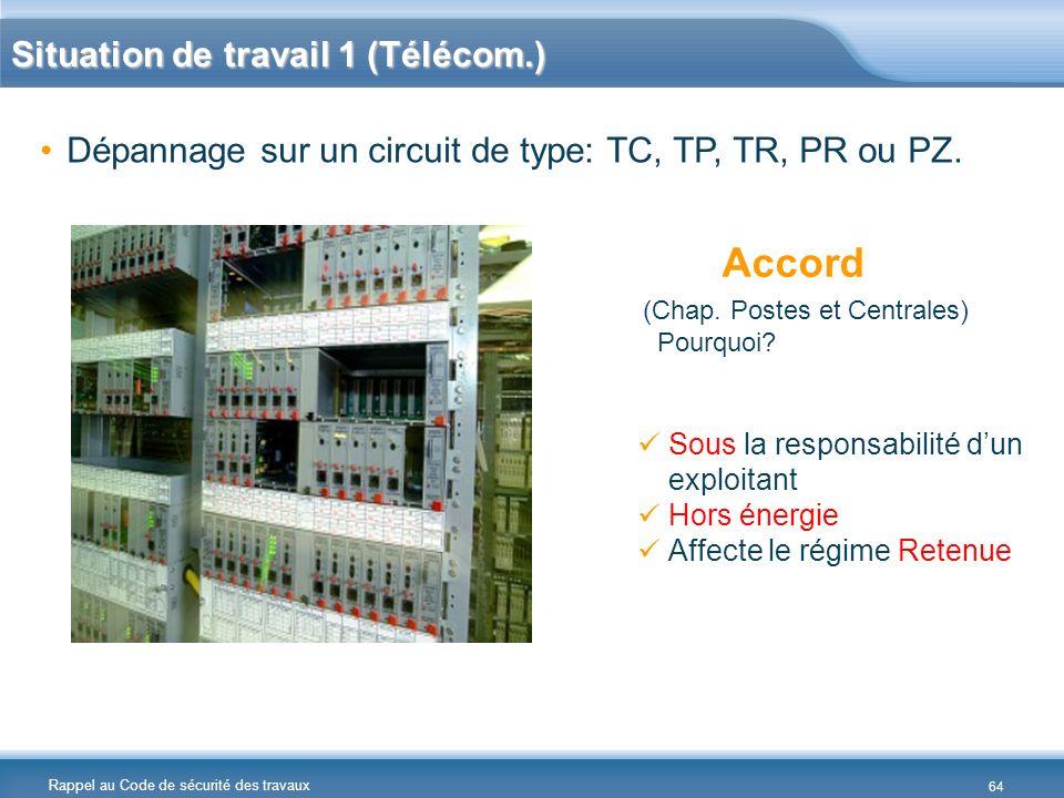 Accord Situation de travail 1 (Télécom.)