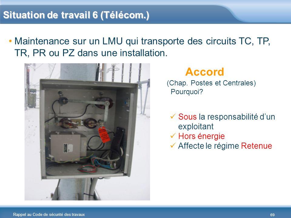 Situation de travail 6 (Télécom.)