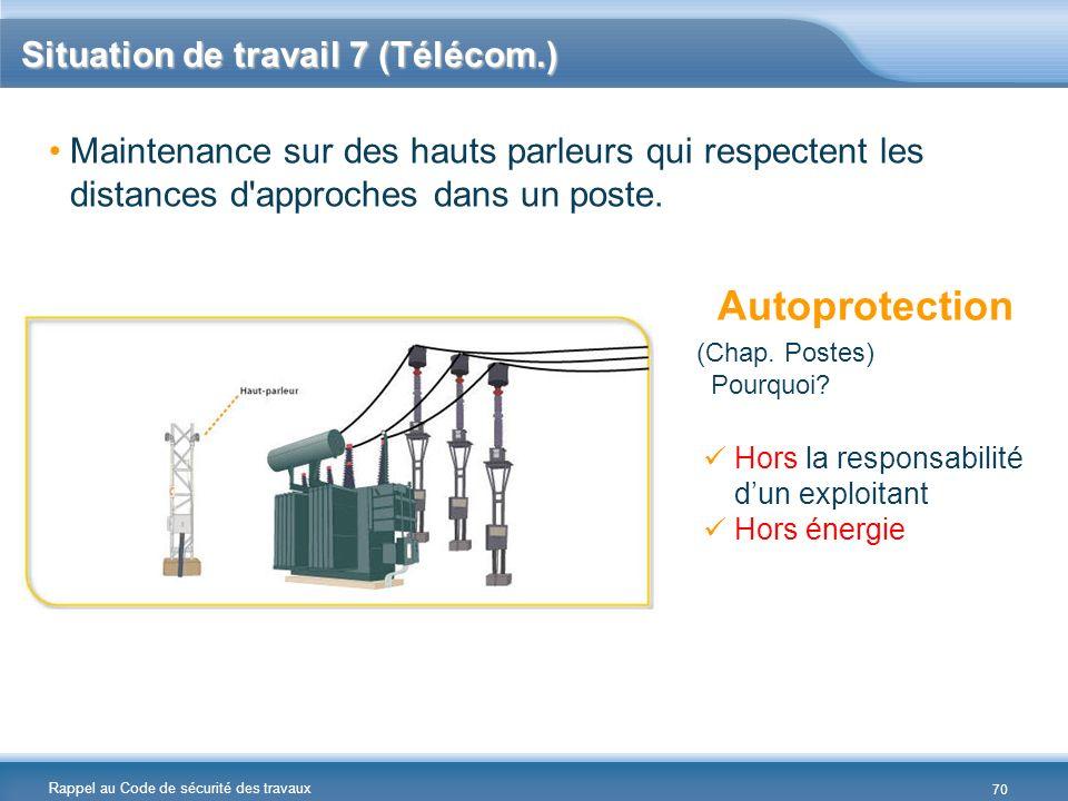 Situation de travail 7 (Télécom.)