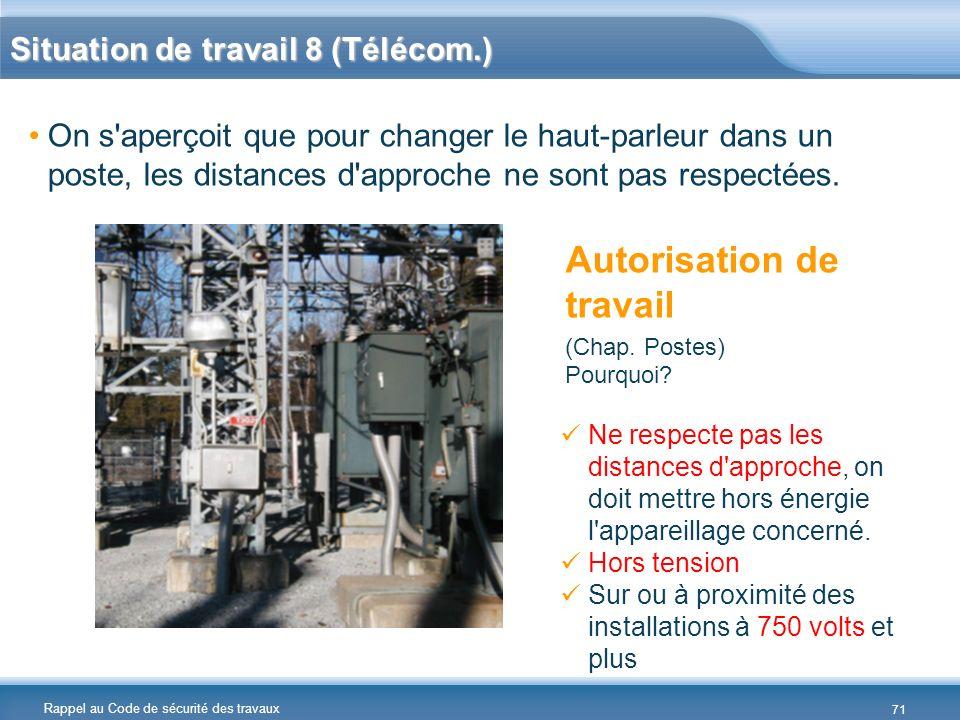 Situation de travail 8 (Télécom.)