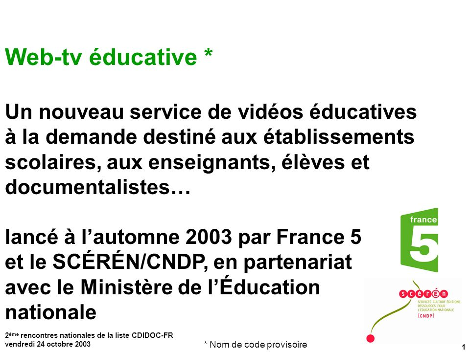 Web-tv éducative *