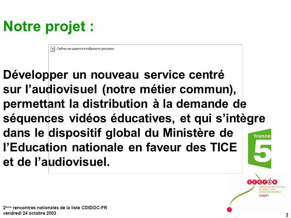 Notre projet : Développer un nouveau service centré