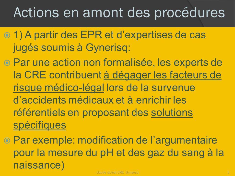 Actions en amont des procédures