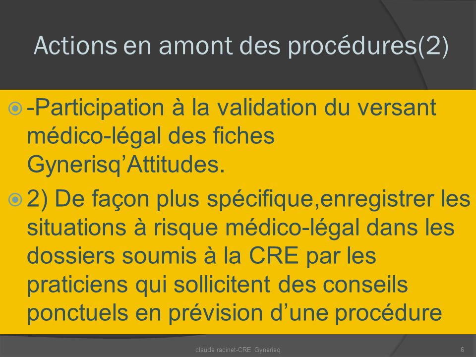 Actions en amont des procédures(2)
