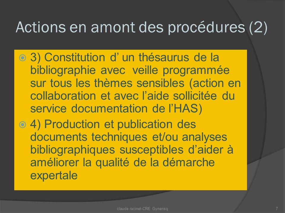 Actions en amont des procédures (2)